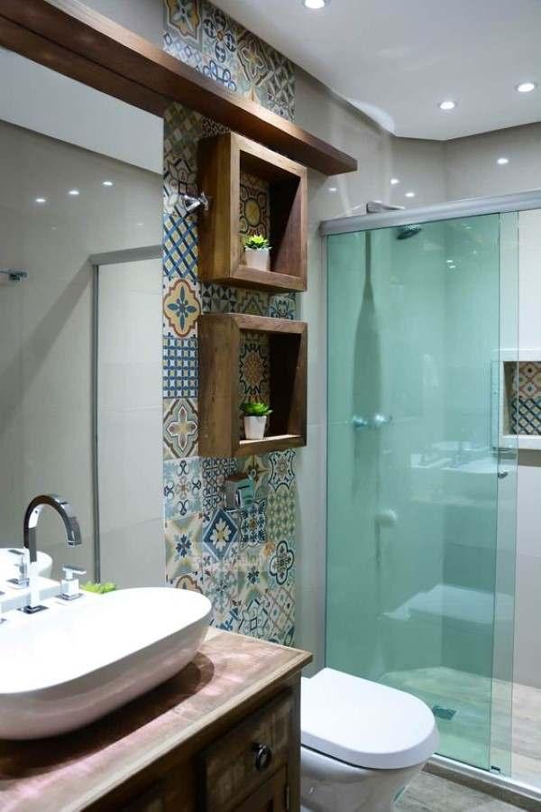 banheiro planejado azulejo