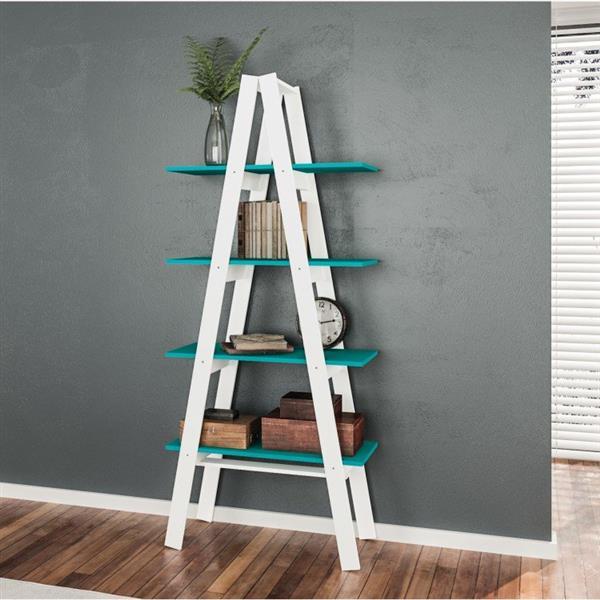 decoração com escadas de madeira