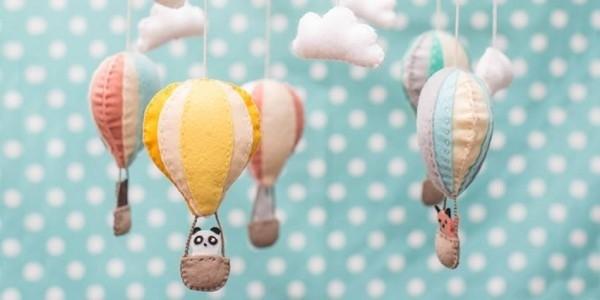 móbile de balões