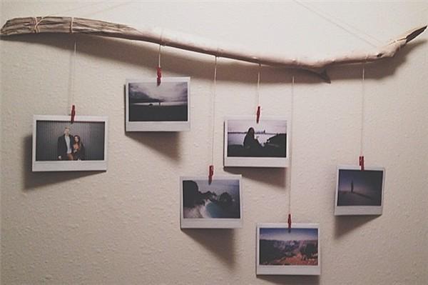 como fazer varal de fotos