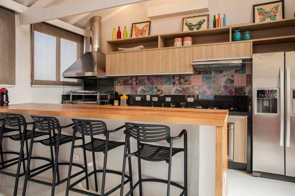 espaço gourmet aconchegante e simples