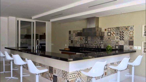 espaço gourmet balcão de mármoRE