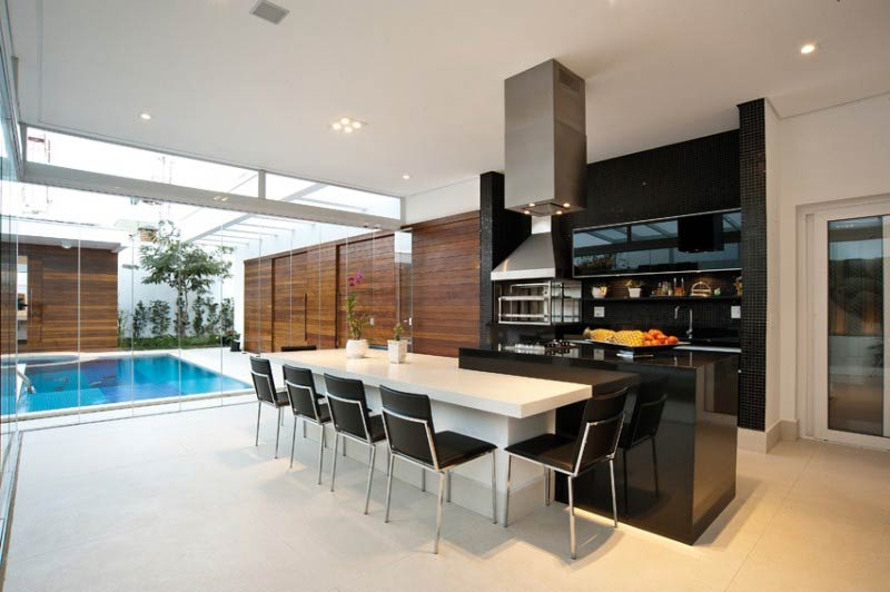 espaço gourmet piscina