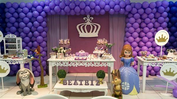 painel decoração princesa sofia