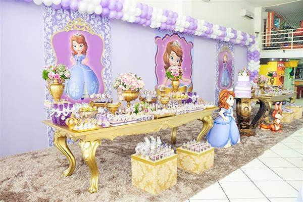 decoração princesa sofia luxo