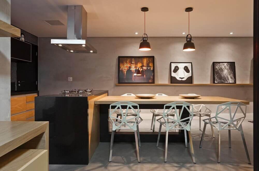moderno decoração espaço gourmet