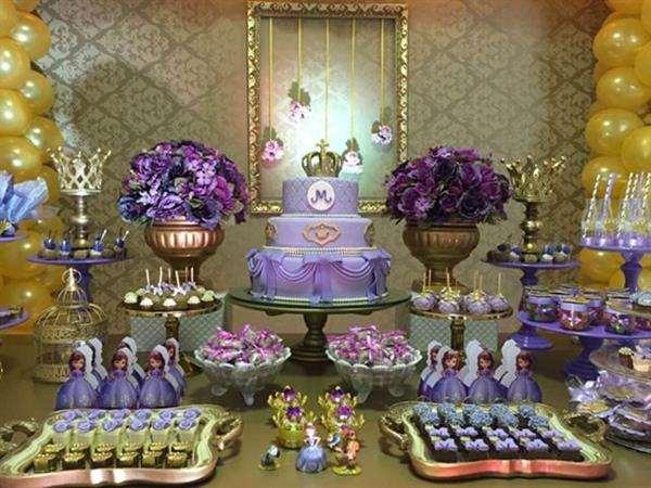 mesa do bolo princesa sofia