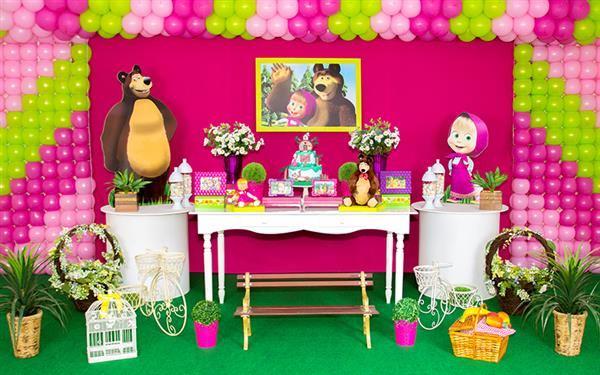 decoração masha e o urso