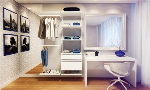 como organizar closet aberto