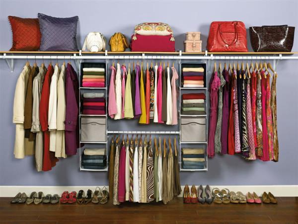 closet aberto para casal
