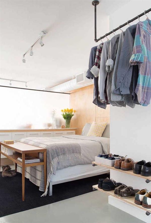 closet aberto moderno