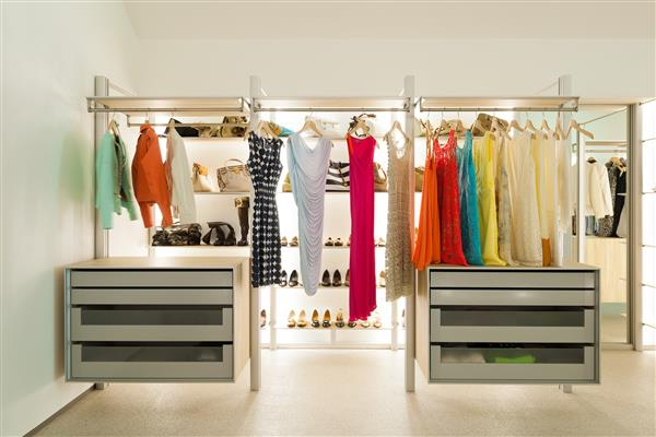 modelo de closet aberto planejado