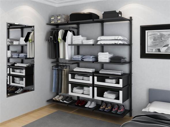closet aberto para homens