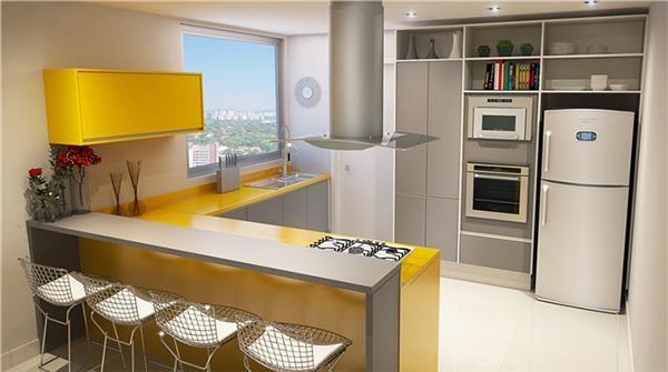 cozinha gourmet simples