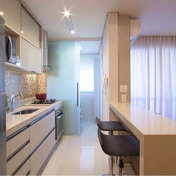 cozinha de apartamento planejada