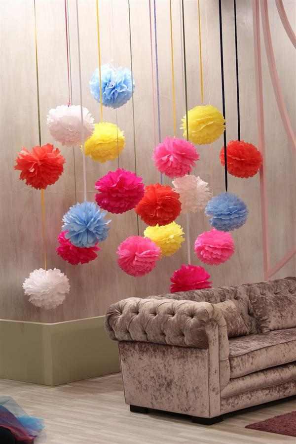 ideias de decoração com papel crepom