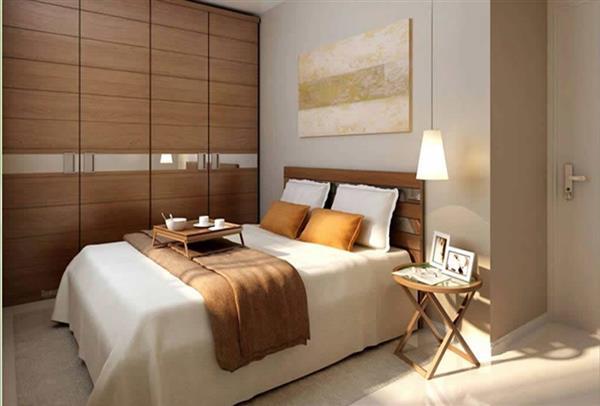 apartamento pequeno decorado quarto