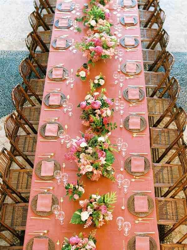 decoração para mesa de convidados casamento