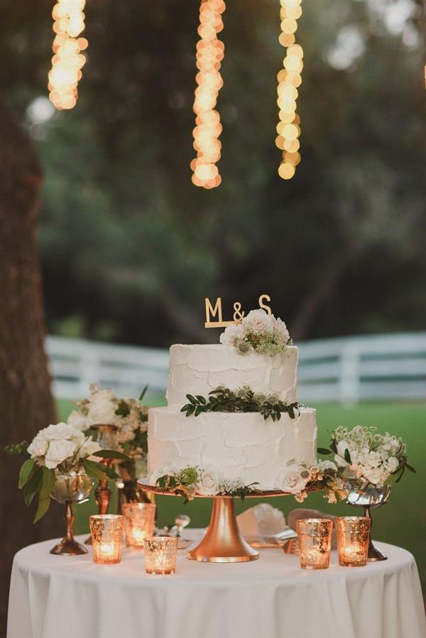 decoração de bolo de casamento
