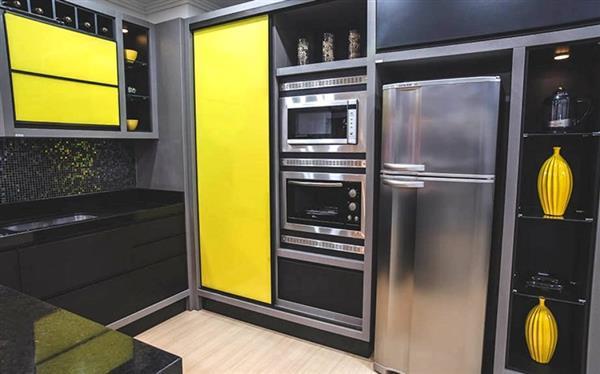 como decorar uma cozinha preta