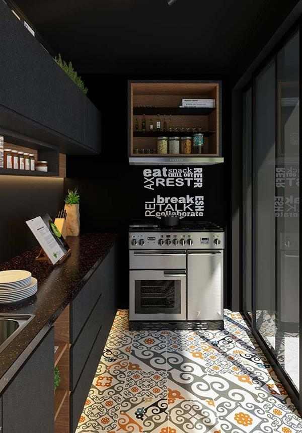 pia de cozinha preta