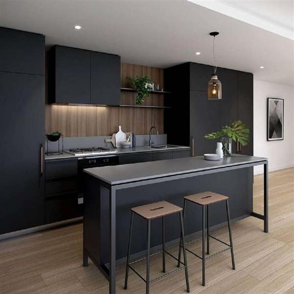 cozinha preto e cinza