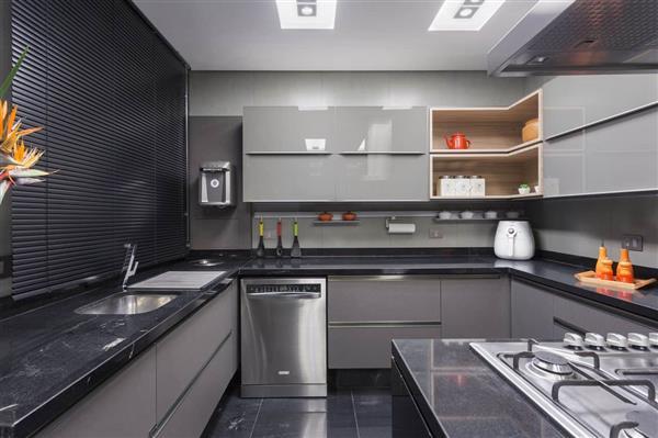 ideias de cozinhas pretas