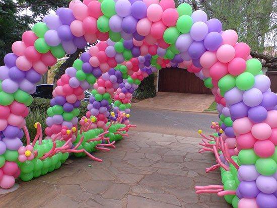 Arco de bexiga na entrada