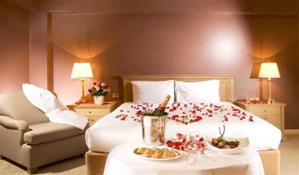 decoração romantica no quarto