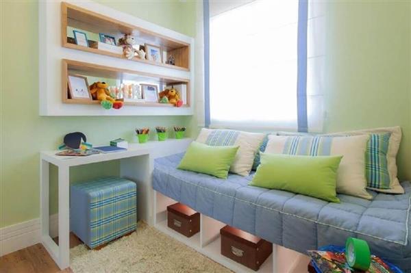 ideias para quarto de criança verde