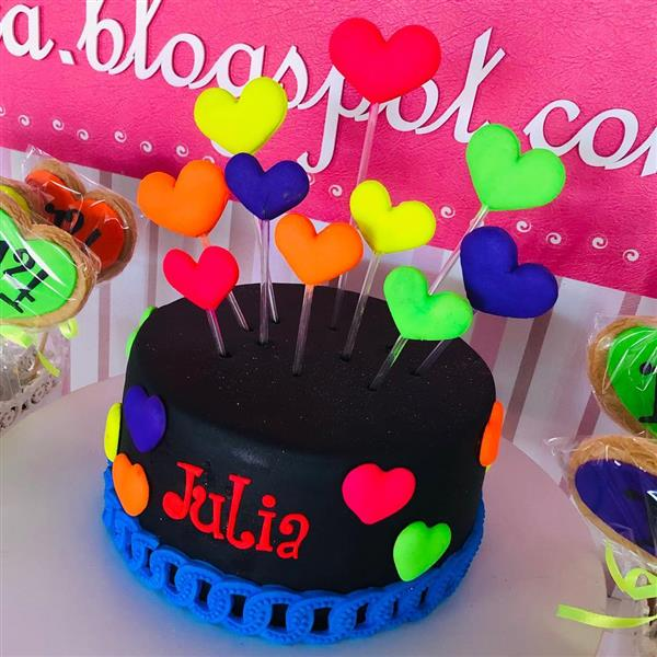 bolo festa balada neon