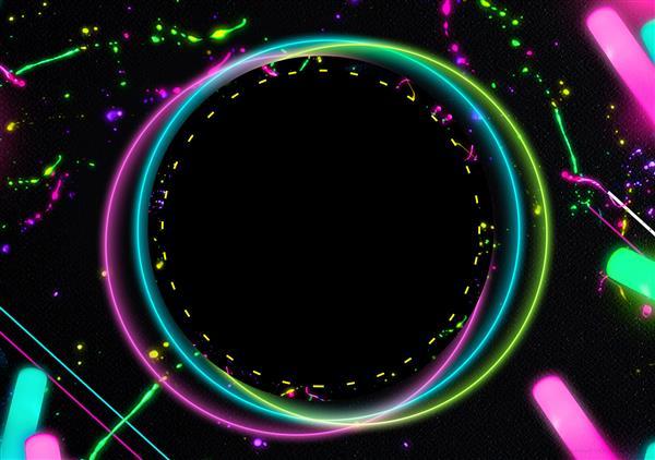 convite festa neon masculino