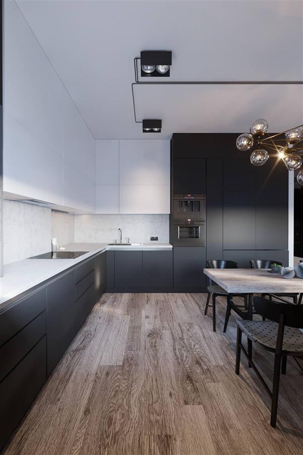 armario de cozinha preto