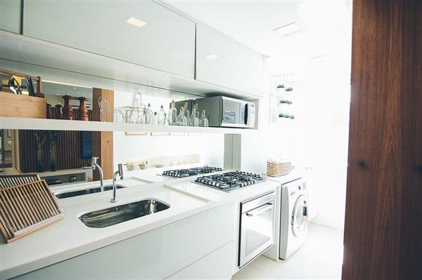 cozinha com espelho