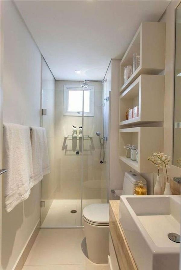 ideias de banheiros simples
