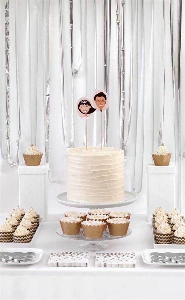 bolo para bodas de algodão