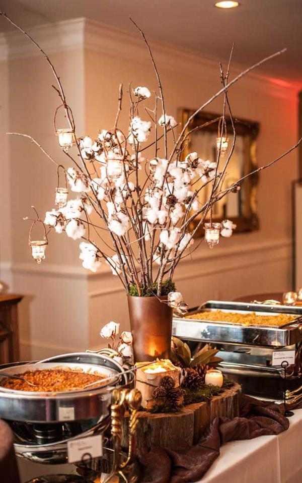 jantar de bodas de algodão