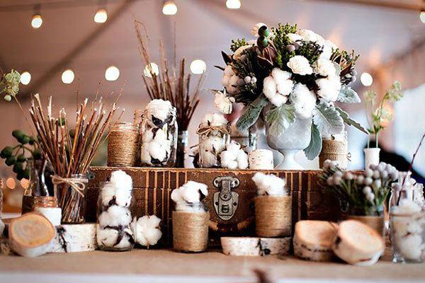 decorar bodas de algodão