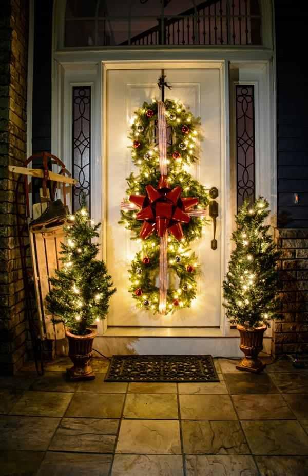 como decorar a porta de entrada