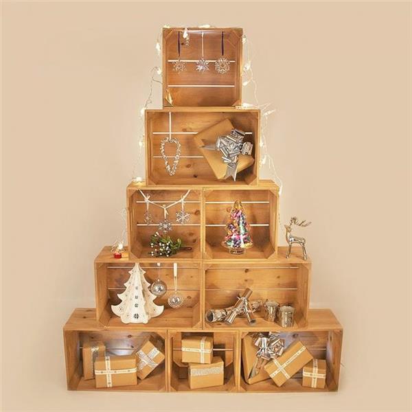arvore de natal de caixotes