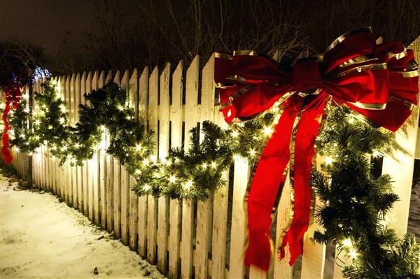 como decorar muro no natal