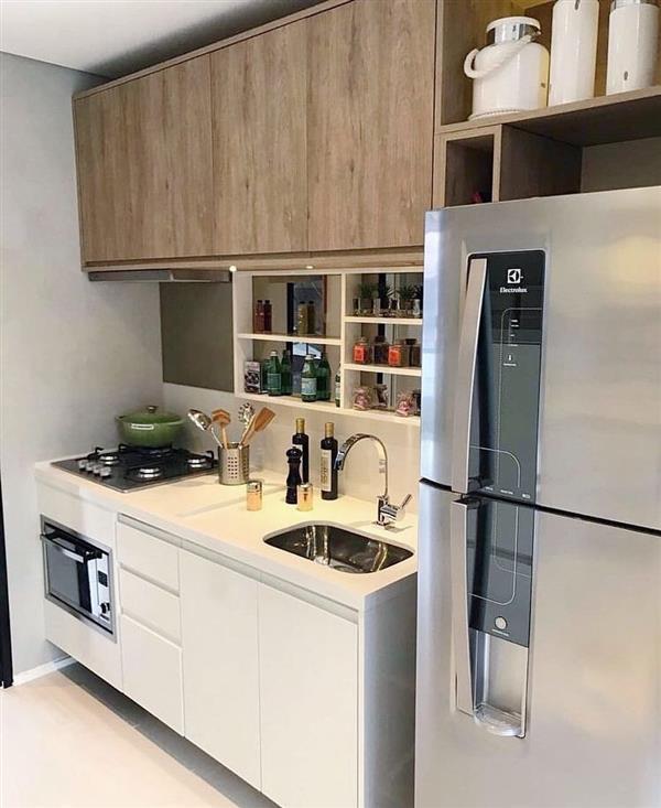 cozinha compacta madeira