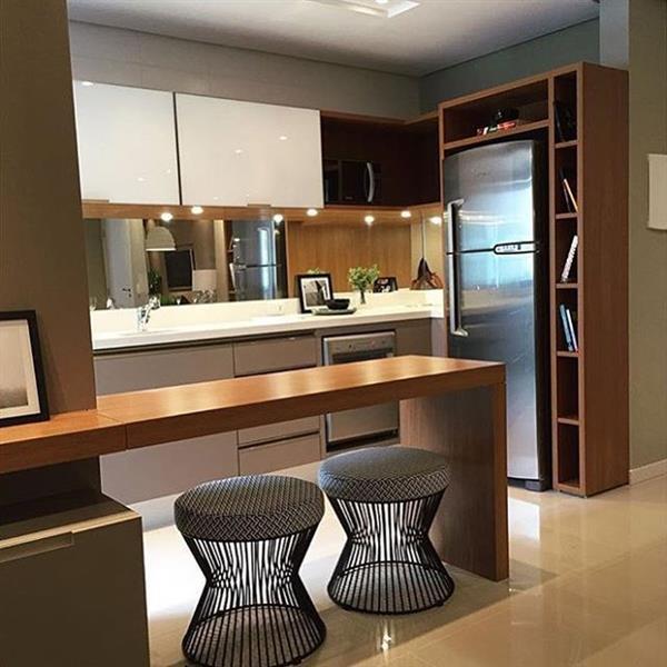cozinha elegante compacta