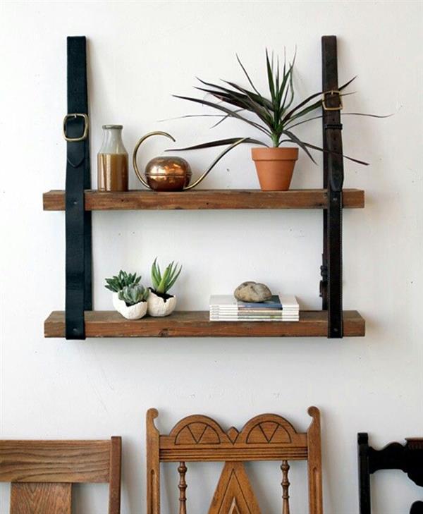 estante simples com madeira