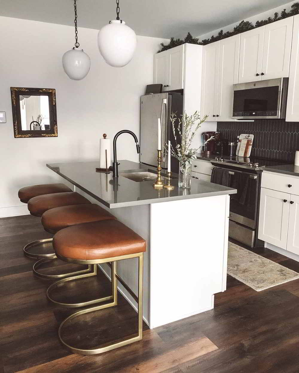 cozinha com granito cinza