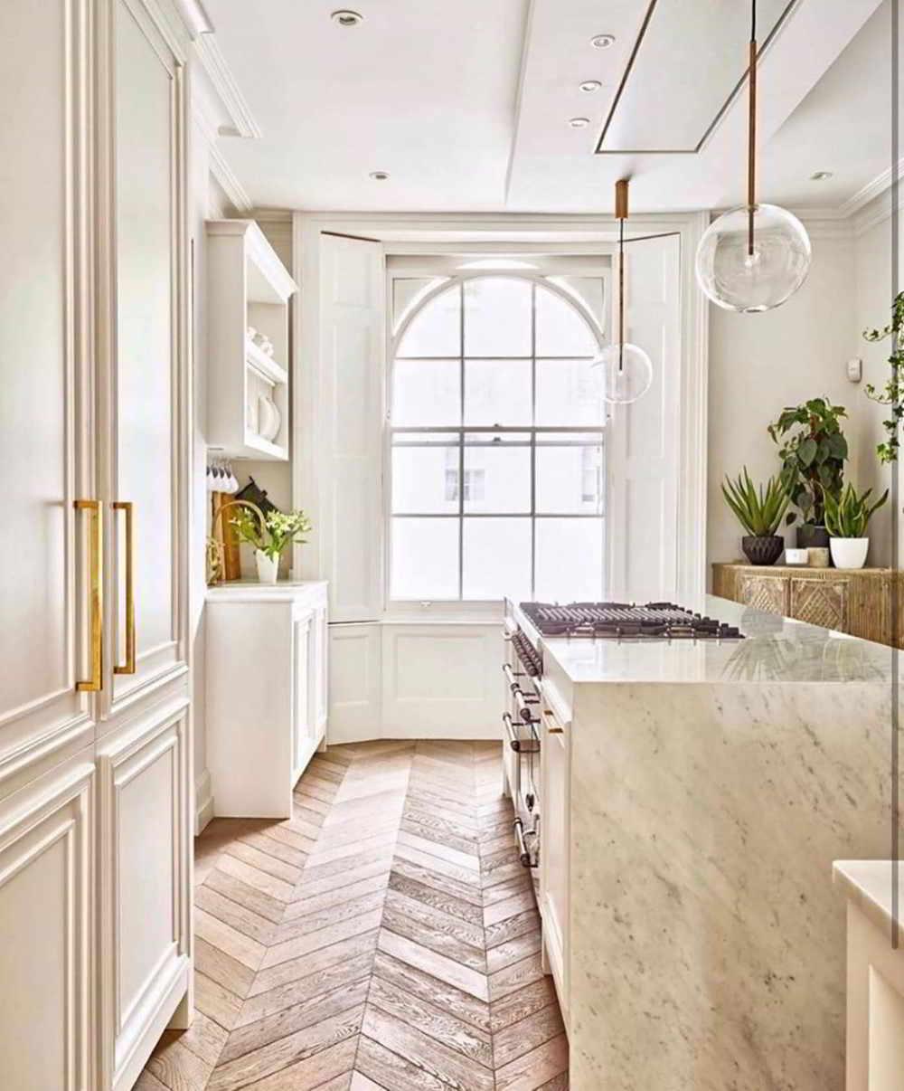 ilha de cozinha em mármore