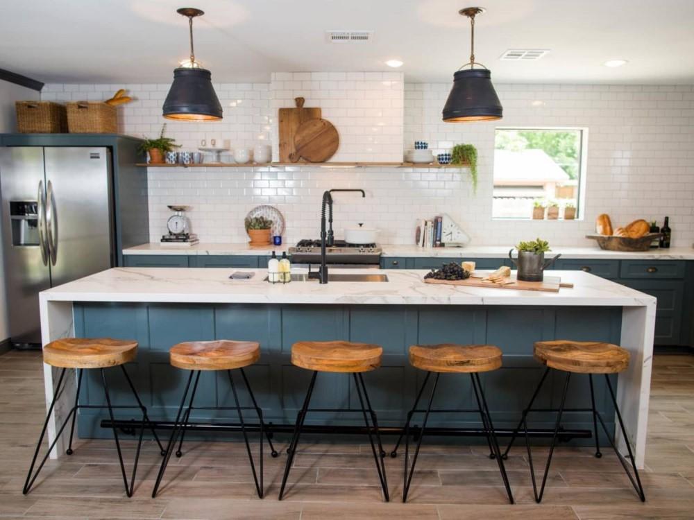 ilha de cozinha moderna