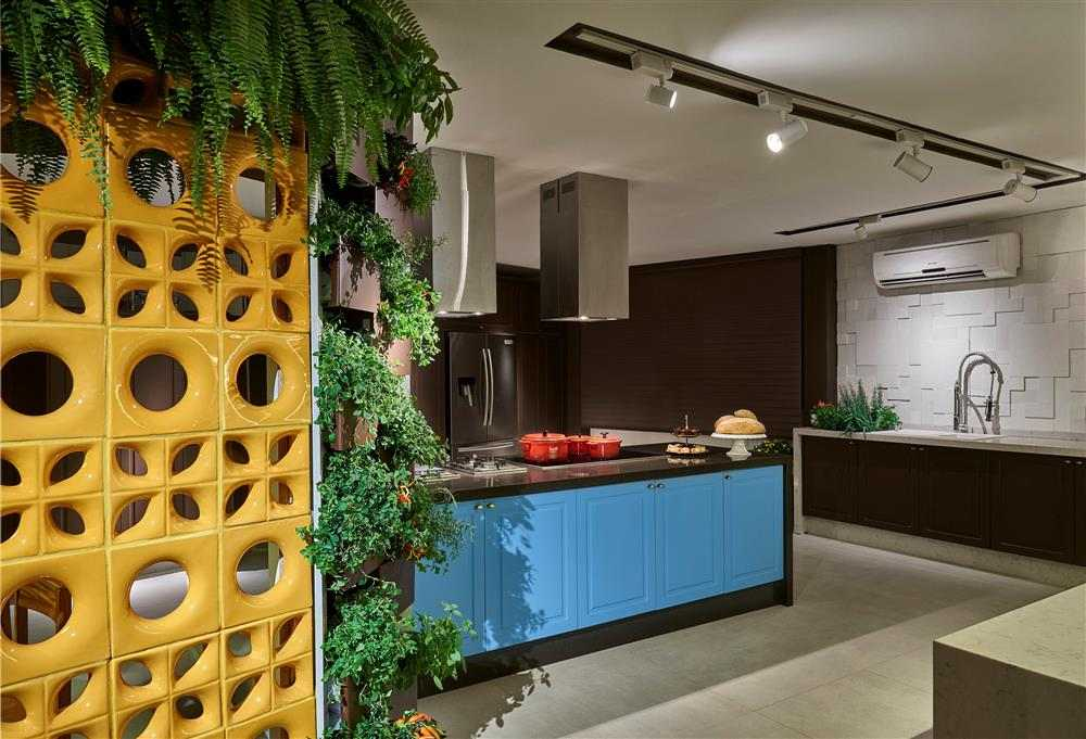 divisória de ambiente para cozinha