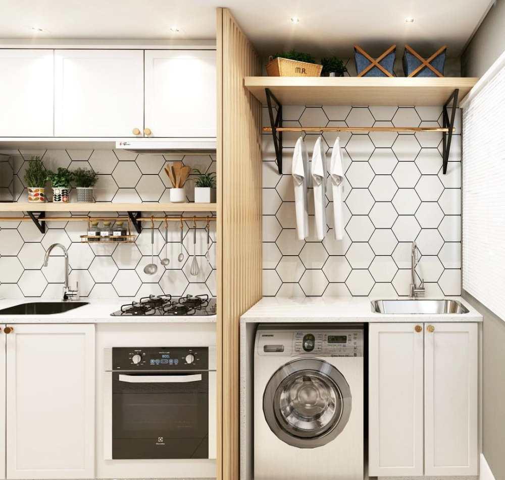 divisoria entre cozinha e lavanderia