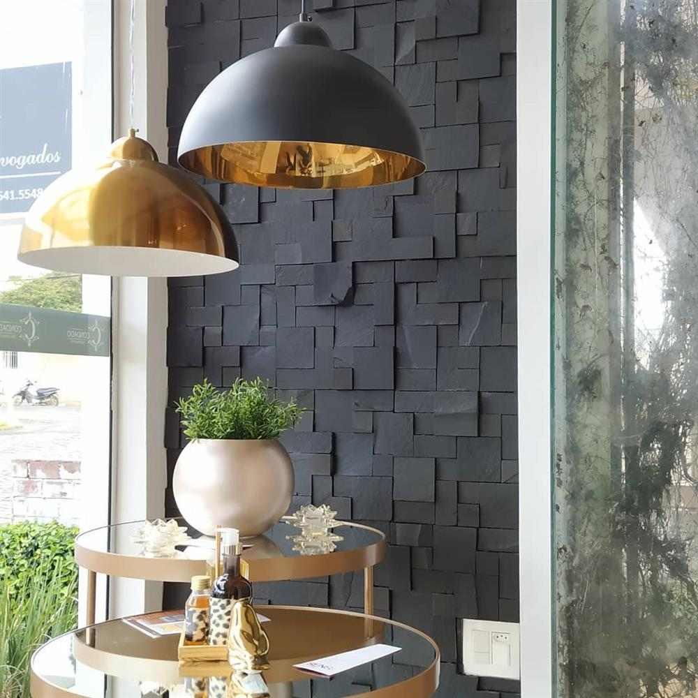 pedra ferro preta mosaico